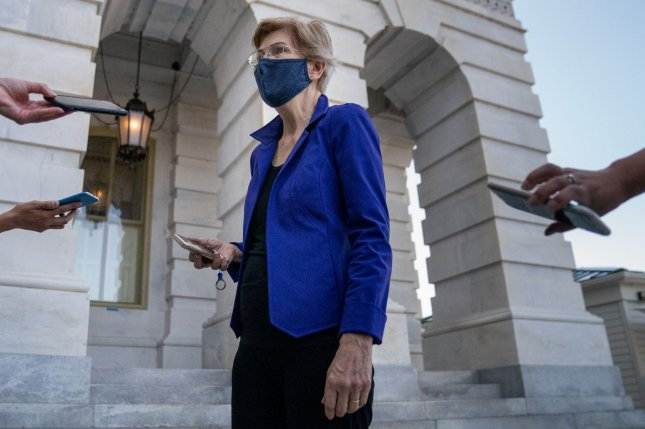 U.S. Sen. Elizabeth Warren (D-MA), shown here on Capitol Hill Sept. 22, has called for an investigation into systemic racism within the Department of Veterans Affairs. Photo by Ken Cedeno/UPI.