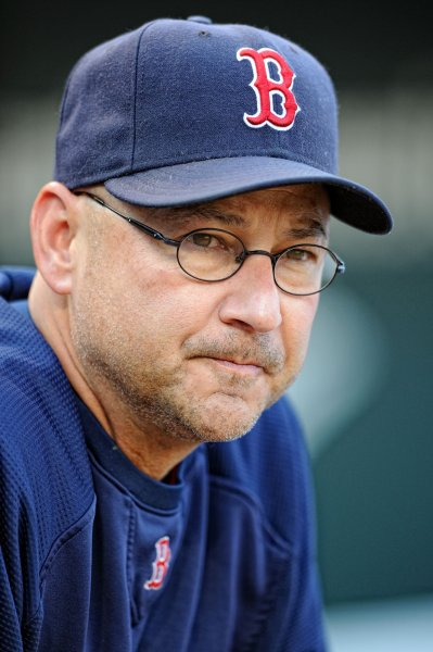 Manager Terry Francona, then with the Boston Red Sox, at Orioles Park at Camden Yards in Baltimore, Sept. 28, 2011. UPI/ Mark Goldman