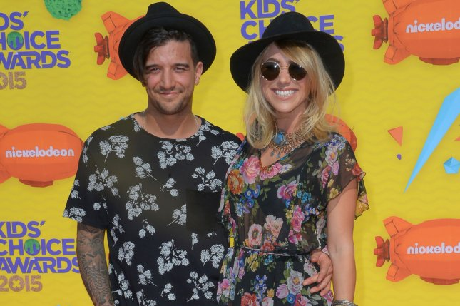 Dancer Mark Ballas (L) and singer-songwriter BC Jean attend Nickelodeon's 28th annual Kids' Choice Awards in Inglewood on March 28, 2015. File Photo by Jim Ruymen/UPI