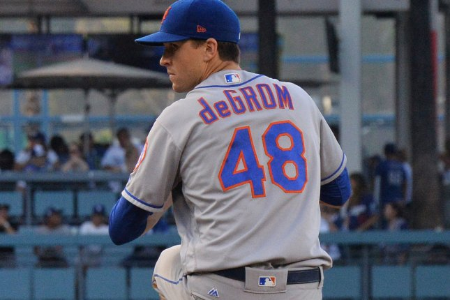 New York Mets pitcher Jacob deGrom won the 2018 National League Cy Young Award. He was announced as the team's 2019 opening day starter Thursday. File Photo by Jim Ruymen/UPI