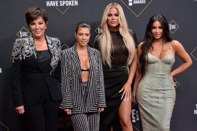Left to right, Kris Jenner, Kourtney Kardashian, Khloé Kardashian and Kim Kardashian West arrive for the 45th annual E! People's Choice Awards in Santa Monica on November 10. Their E! show Keeping Up with the Kardashians is set to wrap up next year after 20 seasons. File Photo by Jim Ruymen/UPI