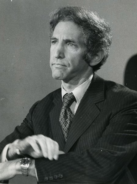 Daniel Ellsberg attends the Senate Watergate hearing in 1973. In 1971, he leaked the so-called Pentagon Papers to The New York Times. UPI File Photo