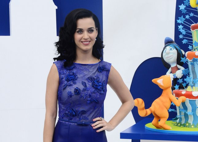 Actress Katy Perry attends the premiere of the motion picture animated comedy The Smurfs 2 at the Regency Village Theatre in the Westwood section of Los Angeles on July 28, 2013. The Smurfs join forces with their human friends to rescue Smurfette who has been kidnapped. UPI/Jim Ruymen