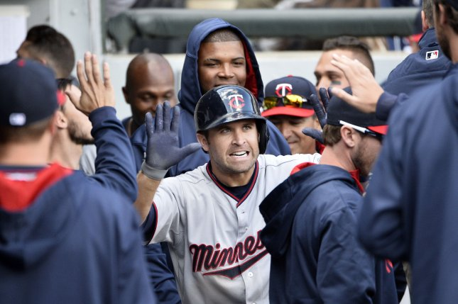 Minnesota Twins' Brian Dozier. Photo by Brian Kersey/UPI