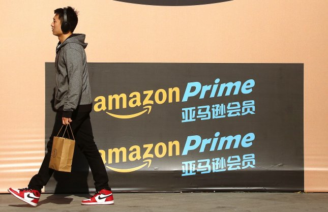 Amazon said it plans to roll out the one-day delivery service for Amazon Prime members in North America first but then expand the program globally. Photo by Stephen Shaver/UPI