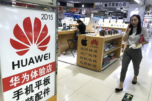 The Trump administration delayed penalties on Huawei Technologies until Nov. 19. Photo by Stephen Shaver/UPI