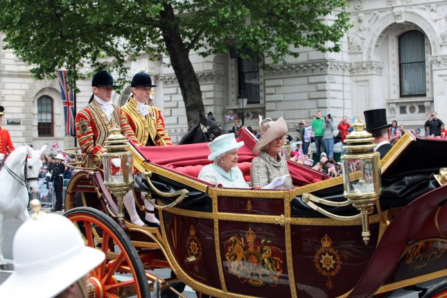 Queen Elizabeth II is seen during the Diamond Jubilee on June 5, 2012, which marked the 60th anniversary of her ascending to the the British throne. File Photo by Hugo Philpott/UPI
