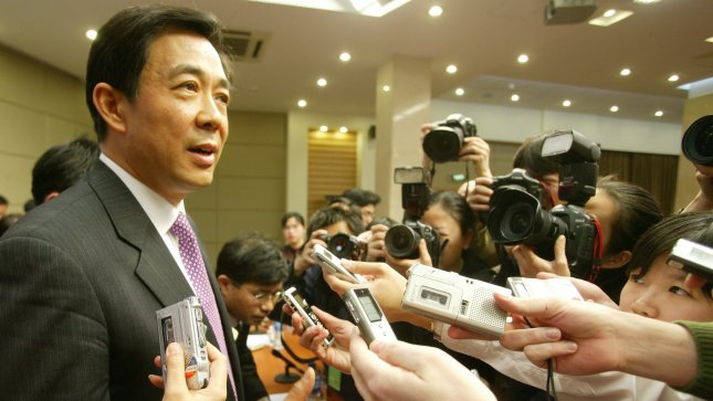 Bo Xilai speaks to the media in 2006. Bo's wife, Gu Kailai, was indicted for murder. (UPI Photo/Stephen Shaver)