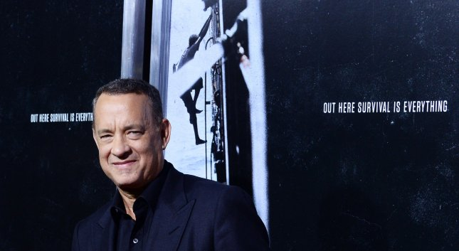 Cast member Tom Hanks attends the premiere of the biographical motion picture thriller Captain Phillips at the Academy of Motion Picture Arts & Sciences in Beverly Hills, California on September 30, 2013. The film is the true story of Captain Richard Phillips and the U.S. flagged MV Maersk Alabama's 2009 hijacking by Somali pirates. The Alabama was the first American cargo ship to be hijacked in two hundred years. UPI/Jim Ruymen