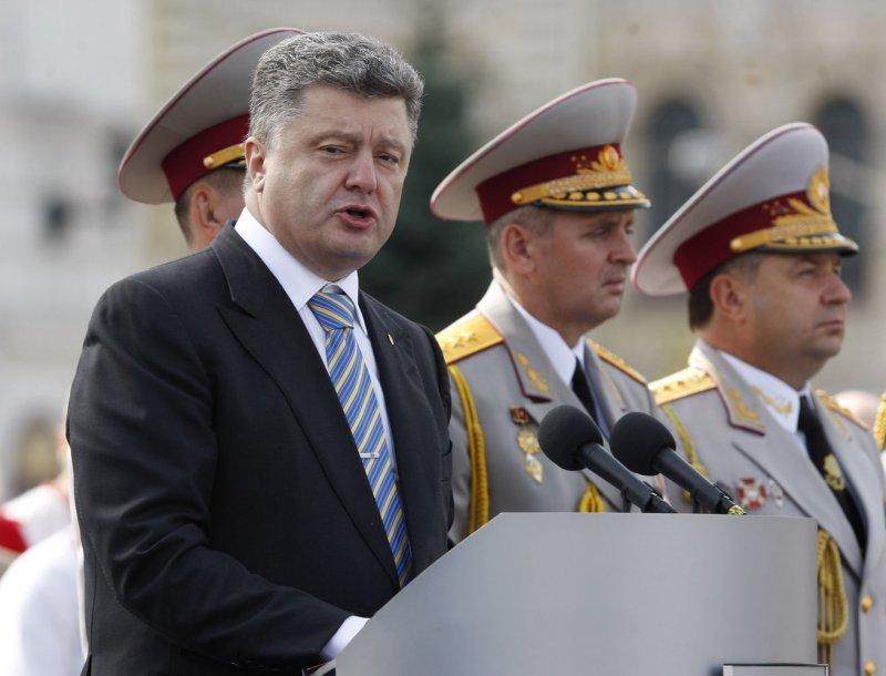 Ukrainian President Petro Poroshenko reported Wednesday about 70 percent of Russian troops had withdrawn from Ukraine. UPI/Ivan Vakolenko