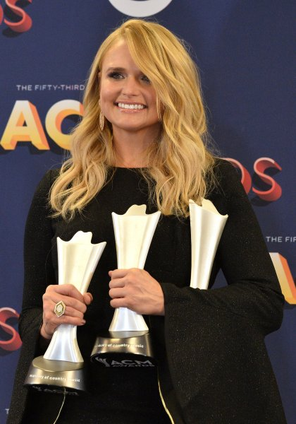Miranda Lambert, winner of the awards for Female Vocalist of the Year and Song of the Year for Tin Man, appears backstage at the 53rd annual Academy of Country Music Awards in Las Vegas on Sunday. Photo by Jim Ruymen/UPI