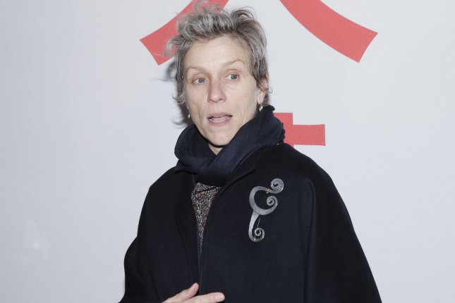 Nomadland star Frances McDormand has been nominated for Leading Actress in the 2021 EE British Academy Film Awards. File Photo by John Angelillo/UPI