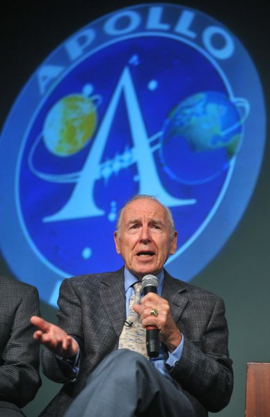 Former Apollo 7 and Apollo 13 astronaut James Lovell, pictured at NASA headquarters in Washington July 20, 2009. (UPI Photo/Kevin Dietsch)