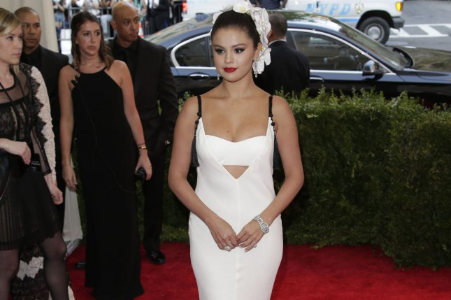 Selena Gomez at the Costume Institute Benefit at the Metropolitan Museum of Art in New York City on May 4, 2015. Photo by John Angelillo/UPI