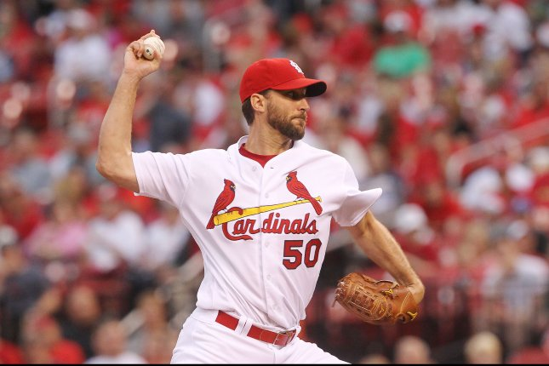 St. Louis Cardinals starting pitcher Adam Wainwright. Photo by Bill Greenblatt/UPI