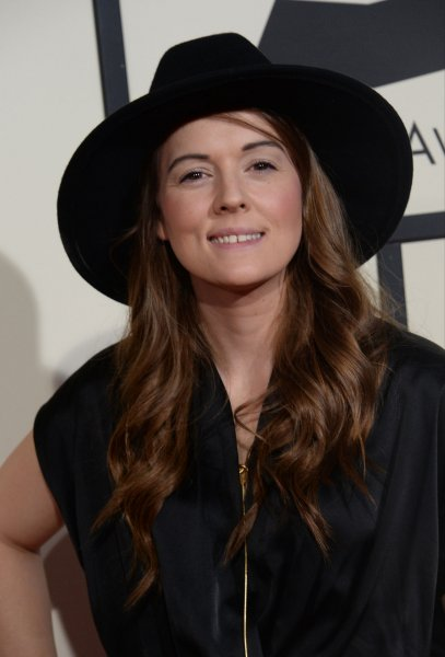 Brandi Carlile arrives for the 58th annual Grammy Awards on February 15. Her new project, Cover Stories: Brandi Carlile Celebrates Ten Years of The Story – An Album to Benefit War Child, features covers by Adele, Dolly Parton, Pearl Jam and more. Photo by Jim Ruymen/UPI