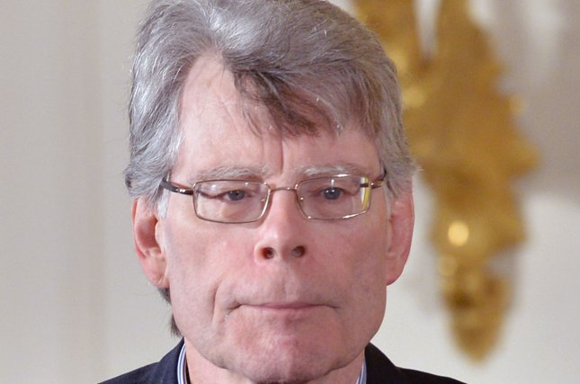 Stephen King accepts the 2014 National Medal of Arts during a ceremony at the White House in Washington, D.C., on September 10, 2015. King passed along that fans should stop worrying about the re-make of It, saying the producers have done a wonderful job. File Photo by Kevin Dietsch/UPI