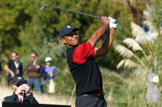 Tiger Woods made Friday's cut at the Farmers Insurance Open. Photo by James Atoa/UPI