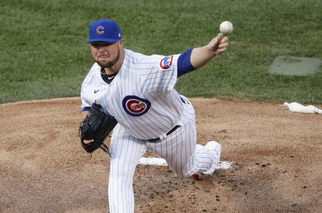 Jon Lester (pictured) will fit in behind Max Scherzer, Stephen Strasburg and Patrick Corbin in the Washington Nationals rotation after he agreed to a one-year deal with the team on Monday. File Photo by Kamil Krzaczynski/UPI