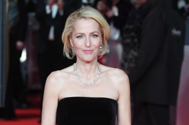 Gillian Anderson will join Michelle Pfeiffer and Viola Davis in the Showtime series The First Lady. File Photo by Rune Hellestad/UPI