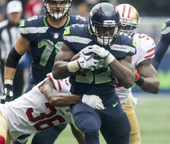 Chris Carson and the Seattle Seahawks will look to run through the Tennessee Titans on Sunday. Photo by Jim Bryant/UPI
