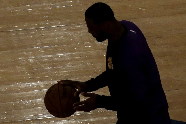 Los Angeles Lakers star LeBron James signed a four-year, $154 million contract with the franchise in July. File Photo by John Angelillo/UPI