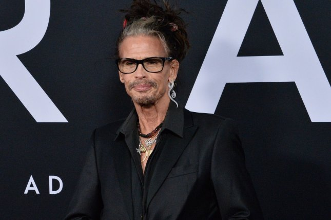 Steven Tyler and his rock band Aerosmith were honored at a star-studded MusiCares Person of the Year gala on Friday night in Los Angeles. File Photo by Jim Ruymen/UPI