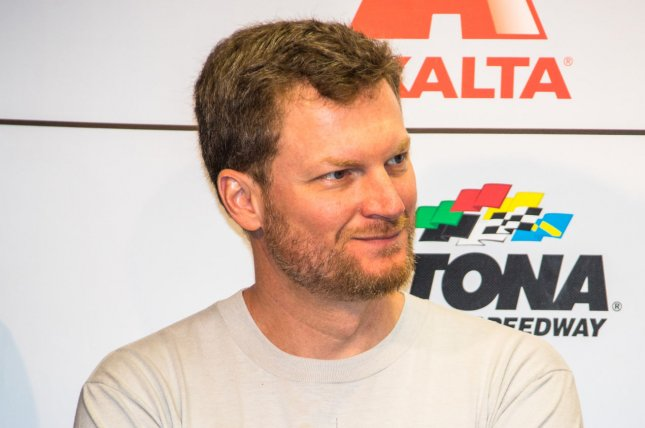 Dale Earnhardt, Jr., welcomed his second daughter, Nicole Lorraine, with his wife, Amy Earnhardt. File Photo by Edwin Locke/UPI