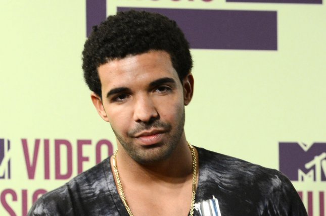 Recording artist Drake at the MTV Video Music Awards in Los Angeles on September 6, 2012. Drake will guest star on Tuesday's episode of the television variety program Maya & Marty, NBC announced. File Photo by Jim Ruymen/UPI