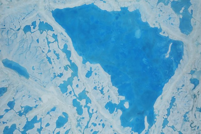 Sea ice shrunk to near-record levels during the summer. This year's minimum extent tied 2007 for second on the all-time low list. Photo by NASA/UPI