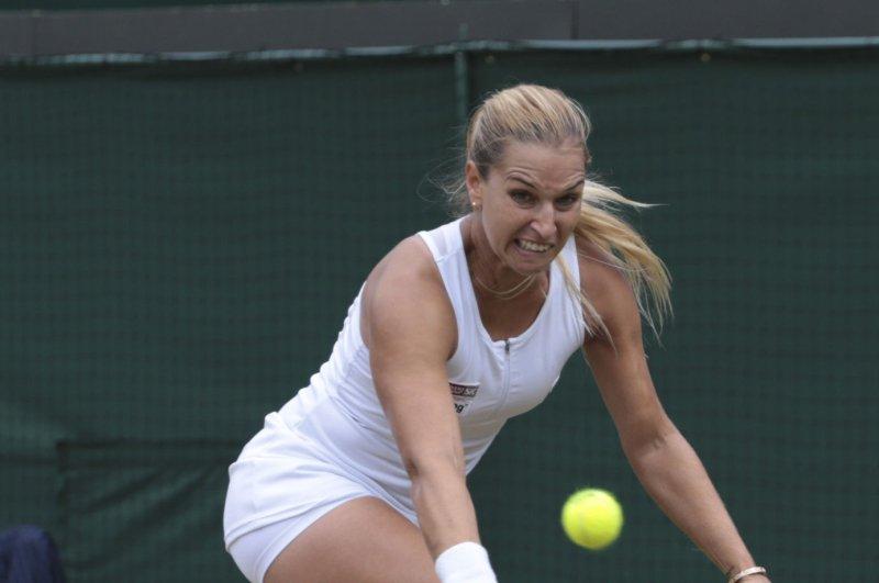 Slovakian Dominika Cibulkova. Photo by Hugo Philpott/UPI