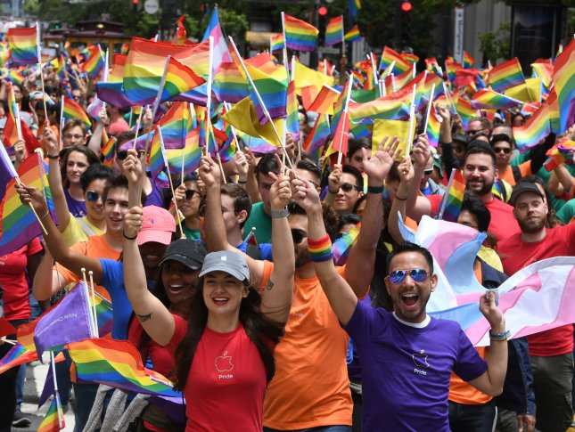 Crowds at the annual LGBT Pride Parade in San Francisco on June 25, 2017. A new report reveals that the majority of Americans support same-sex marriage, a number that has sharply increased since 2015 after the Supreme Court ruled in favor of same-sex marriage. Photo by Terry Schmitt/UPI