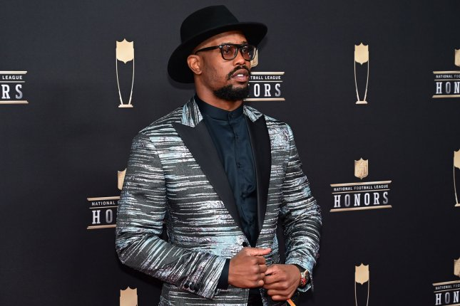 Denver Broncos star Von Miller was the team's 2018 Walter Payton NFL Man of the Year nominee. File Photo by David Tulis/UPI
