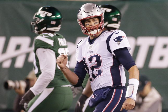 New England Patriots quarterback Tom Brady threw for 249 yards in a win against the New York Jets Monday in East Rutherford, N.J.  Photo by John Angelillo/UPI
