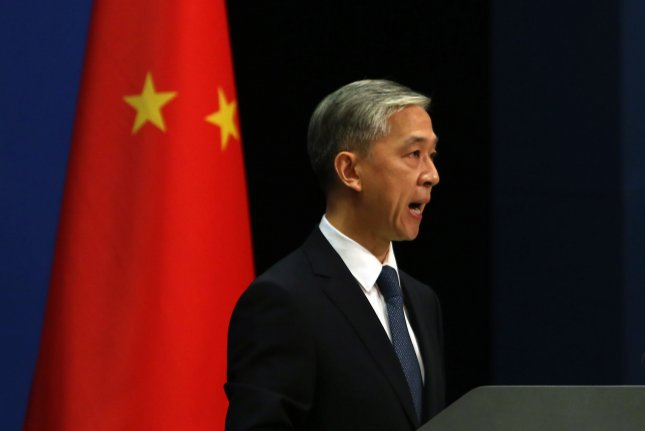 China's foreign ministry spokesman Wang Wenbin said the United States is maliciously slandering Chinese companies. File Photo by Stephen Shaver/UPI