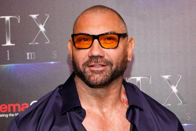 Army of the Dead star Dave Bautista arrives for the CinemaCon STXfilms red carpet in April 2019. File Photo by James Atoa/UPI