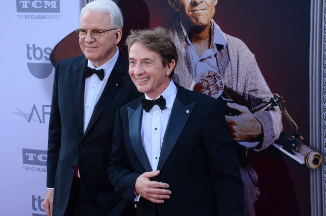 Steve Martin (L) and Martin Short play Charles-Haden Savage and Oliver Putnam on the Hulu series Only Murders in the Building. File Photo by Jim Ruymen/UPI