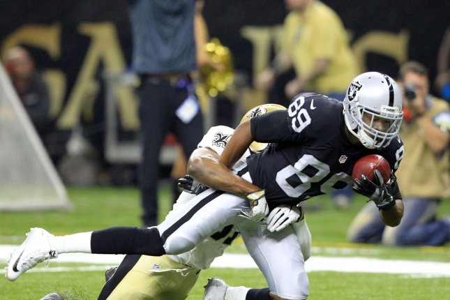 Oakland Raiders wide receiver Amari Cooper is questionable to play in Week 9. Photo by AJ Sisco/UPI
