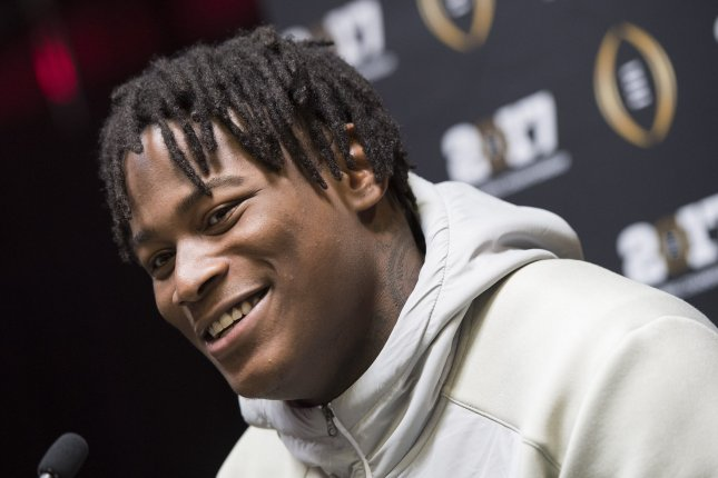 Former San Francisco 49ers linebacker Reuben Foster talks to reporters on January 7, 2017 in Tampa, Florida. File photo by Kevin Dietsch/UPI
