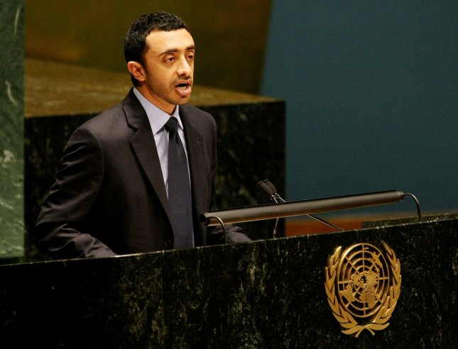Abdullah Bin Zayed Al Nahyan, Foreign Affairs Minister of the United Arab Emirates. speaks during the Conference of the Parties to the Treaty on the Non-Proliferation of Nuclear Weapons at the United Nations on May 4, 2010 in New York. UPI/Monika Graff