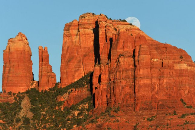 Cathedral Rock in Sedona, Ariz., near site of the Slide Fire. UPI/Art Foxall