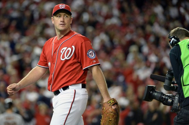Washington Nationals pitcher Jordan Zimmerman. UPI/Pat Benic
