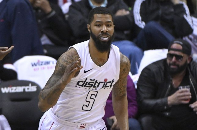Washington Wizards forward Markieff Morris was reportedly traded to the New Orleans Pelicans on Wednesday night. Photo by Mark Goldman/UPI