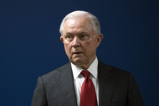 Jeff Sessions resigned as attorney general exactly one year ago. File Photo by Kevin Dietsch/UPI