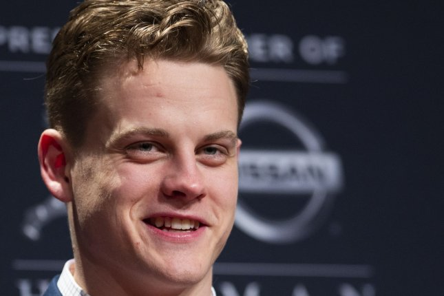 Cincinnati Bengals rookie quarterback Joe Burrow was selected with the No. 1 overall pick in April's NFL Draft. File Photo by Corey Sipkin/UPI