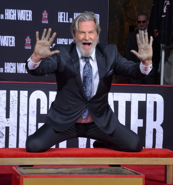 Actor Jeff Bridges participates in a hand and footprint ceremony immortalizing him in the forecourt of TCL Chinese Theatre (formerly Grauman's) in the Hollywood section of Los Angeles on January 6, 2017. Photo by Jim Ruymen/UPI