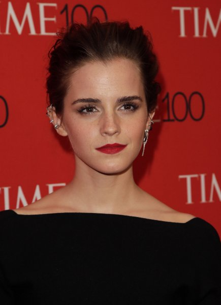 Emma Watson arrives on the red carpet at the TIME 100 Gala at Frederick P. Rose Hall in New York City on April 21, 2015. The actress sings in a new clip from Beauty and the Beast. File Photo by John Angelillo/UPI