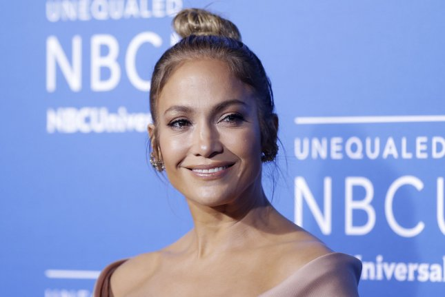 Jennifer Lopez arrives on the red carpet at the 2017 NBCUniversal Upfront on May 15 in New York City. NBC has postponed her live musical version of Bye Bye Birdie by a year. Photo by John Angelillo/UPI