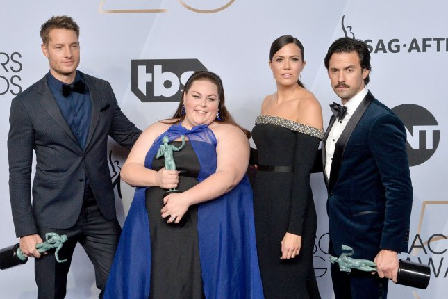 Milo Ventimiglia (R), pictured with Justin Hartley, Chrissy Metz and Mandy Moore, spoke out after This is Us producers said the series will end after Season 6. File Photo by Jim Ruymen/UPI