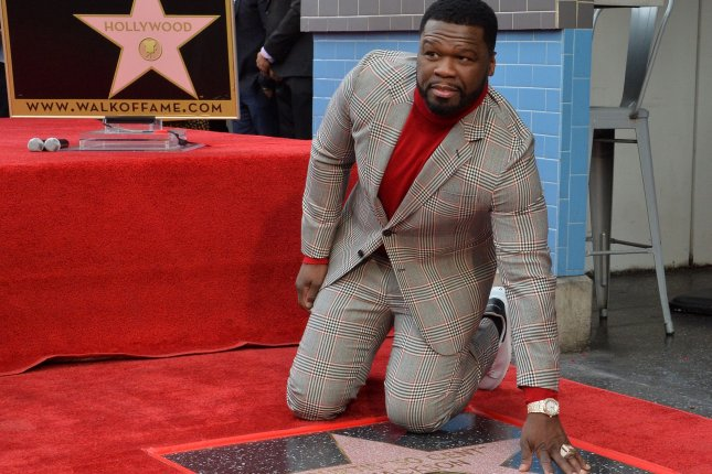 American singer, songwriter, rapper, actor, television producer, entrepreneur and investor Curtis 50 Cent Jackson received the 2,686th star on the Hollywood Walk of Fame on Thursday. Photo by Jim Ruymen/UPI